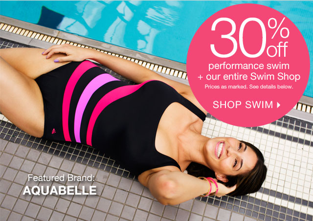 Shop 30% off Performance Swim + More
