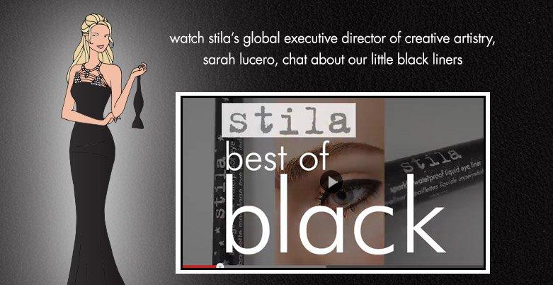 watch Stila's Best of Black video