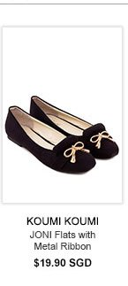 KOUMI KOUMI JONI Flats with Metal Ribbon