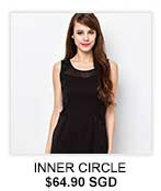 INNER CIRCLE Sleeveless Illusion Dress