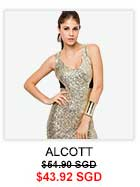 ALCOTT Sequins Micronet Dress
