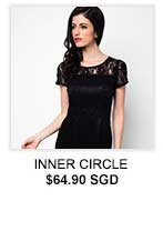 INNER CIRCLE Sheer Lace Illusion Dress