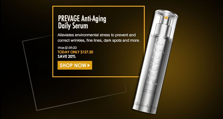 PREVAGE Anti-Aging Daily SerumAlleviates environmental stress to prevent and correct wrinkles, fine lines, dark spots and more. Was $159 Now $127.20Shop Now>>
