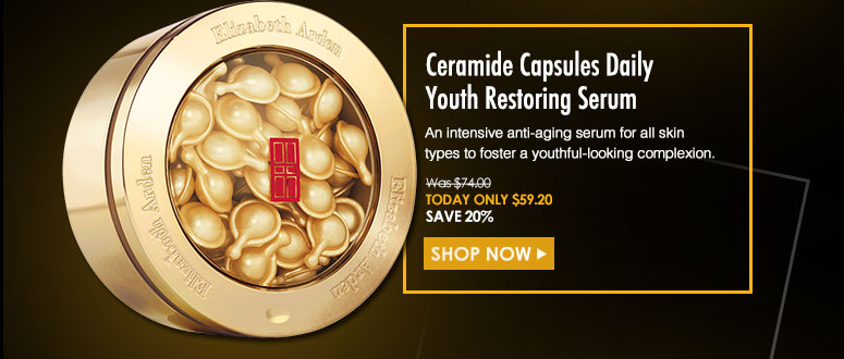 Ceramide Capsules Daily Youth Restoring SerumAn intensive anti-aging serum for all skin types to foster a youthful-looking complexion. Was $74 Now $59.20Shop Now>>
