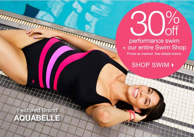 Shop 30% off Performance Swim + More