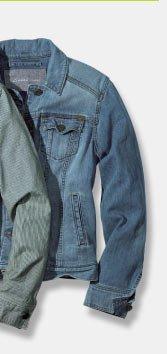 Shop Solid Classic Jean Jacket