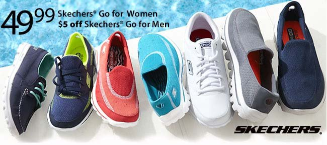 $49.99 Skechers Go for Women and save $5 off Skechers Go for Men