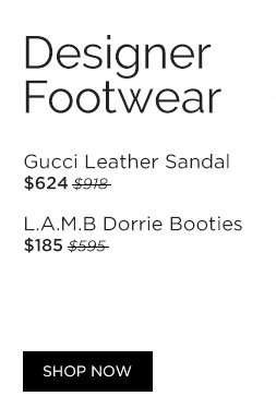 Designer Footwear. Shop Now