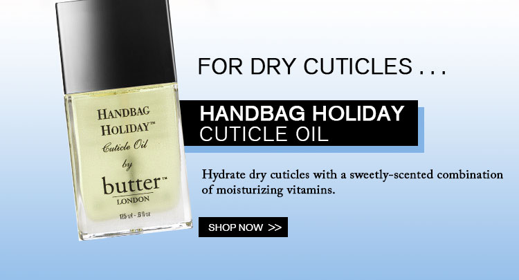 Try our Handbag Holiday Cuticle Oil!