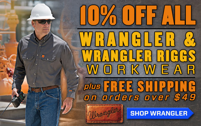 Save 10% On All Wrangler & Riggs Clothing + Get FREE Shipping On Orders of $49 Or More!!