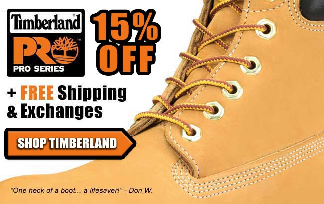 Save 15% On Timberland PRO Boots + Get FREE Shipping!