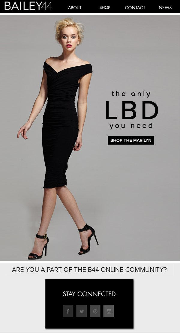 the only LBD you need SHOP THE MARILYN