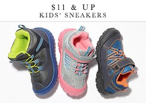 $11 & Up: Kids' Sneakers