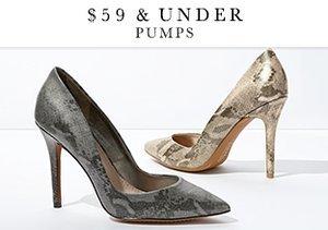 $59 & Under: Pumps