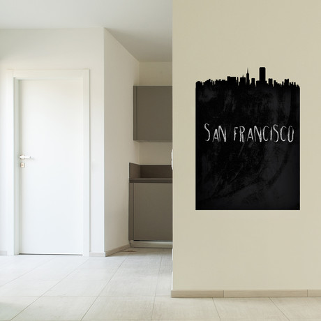 San Francisco Skyline Chalkboard Wall Decal