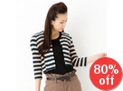 3/4-Sleeve Striped Military Cardigan
