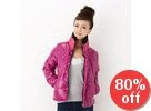 Button-Front Padded Jacket