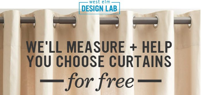 We'll measure + help you choose curtains for free.
