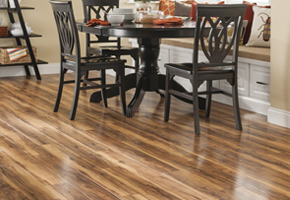 Dining Room With Wood Laminate Flooring