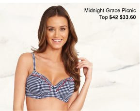 Midnight Grace by figleaves.com Picnic Underwired Padded Sweetheart Bikini Top was $42 now $33.60 & Brief was $27 now $21.60