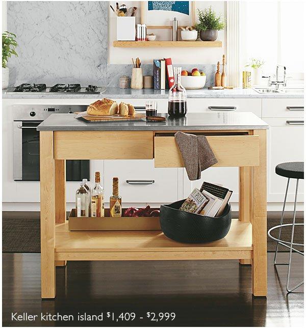 Keller kitchen island $1,409 - $2,999