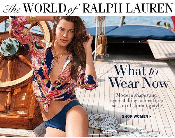 Ralph lauren women ads