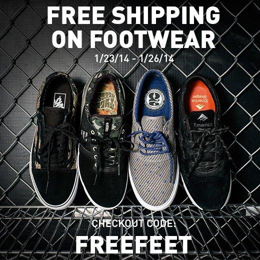 Free Shipping on Footwear