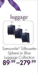 luggage  Samsonite® Silhouette Sphere in Blue Luggage Collection  89.99 - 279.99