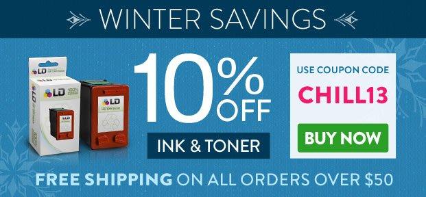 Winter Savings on Ink & Toner