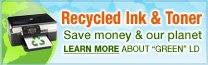 Save money & our planet with recycled ink & toner.