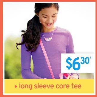 long sleeve core tee