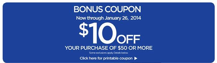 Bonus $10 off