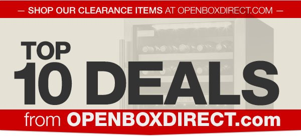 Save up to 70pct + Free Shipping at OpenBoxDirect.com