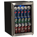 EdgeStar 84 Can Supreme Cold Beverage Cooler - Black and Stainless Steel