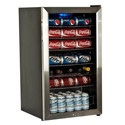 EdgeStar 103 Can and 5 Bottle Ultra Low Temperature Beverage Cooler - Stainless Steel