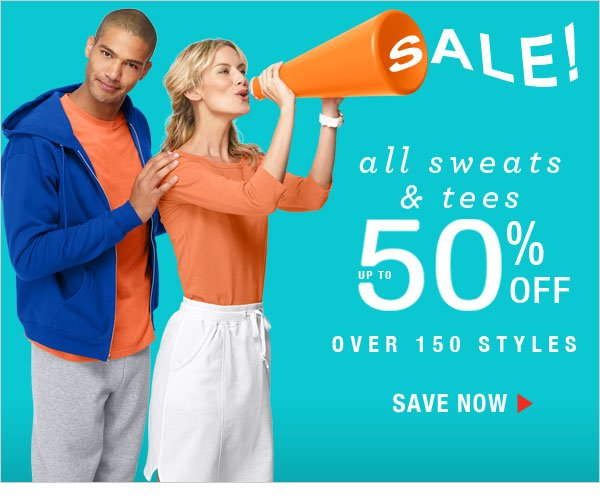 Shop and get up to 50% off 150+ Sweats & Tees