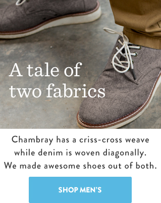 A tale of two fabrics - Shop Men's Denim and Chambray