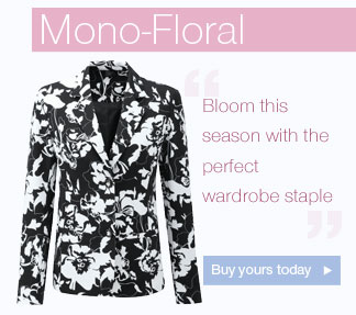 Mono-Floral - Bloom this season with the perfect wardrobe staple Buy yours today.