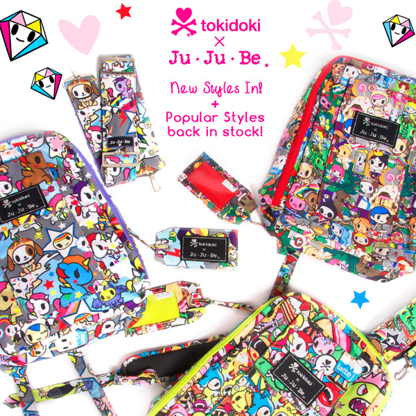 Check out new tokidoki x Ju-Ju-Be styles in your favorite patterns, now in our shop!