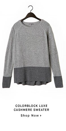 COLORBLOCK LUXE CASHMERE SWEATER - Shop Now