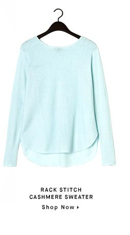 RACK STITCH CASHMERE SWEATER - Shop Now