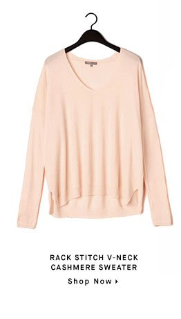 RACK STITCH V-NECK CASHMERE SWEATER - Shop Now
