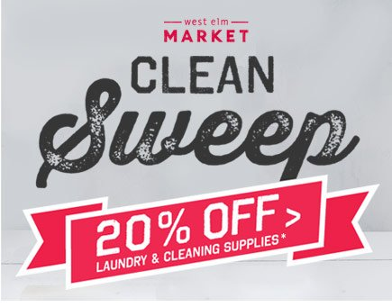 Clean Sweep 20% off Laundry & Cleaning Supplies*
