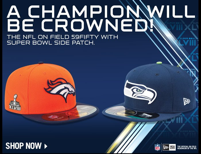 Official NFL On Field 59FIFTY With Super Bowl Side Patch - Now Available!
