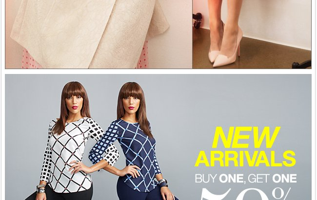 Buy One, Get One 50% Off New Arrivals!