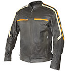 Xelement 'Classic Cafe Racer' Mens Leather Jacket