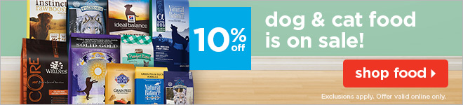 Starting at 10% off - all dog & cat food on sale!