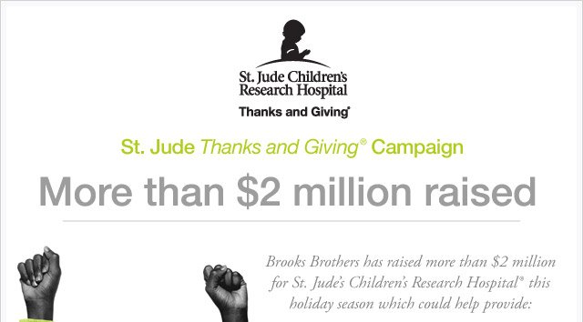 ST. JUDE THANKS AND GIVING CAMPAIGN