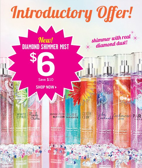 New Diamond Shimmer Mist – $6