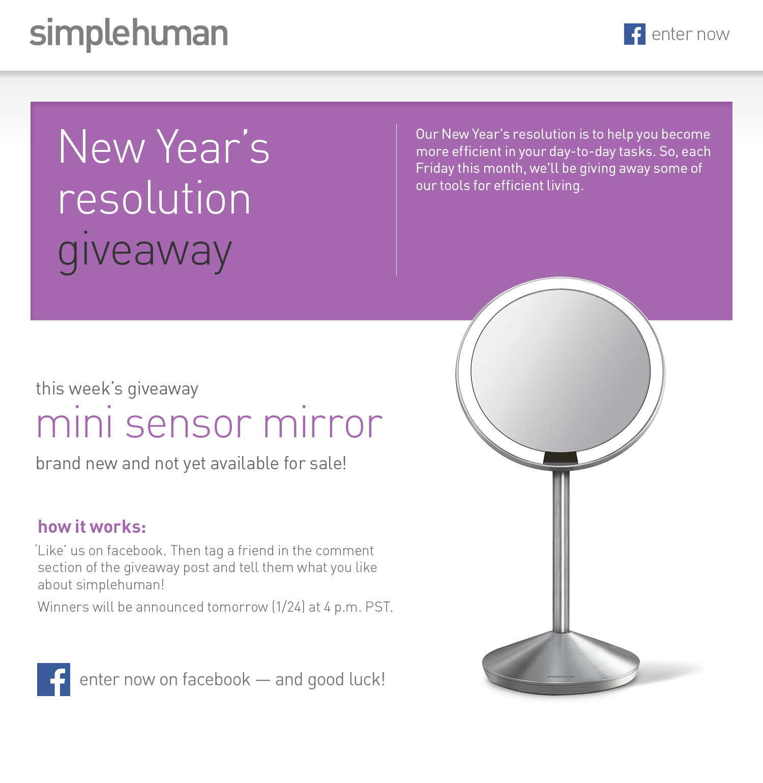 New Year's Resolution Giveaway - mini sensor mirror